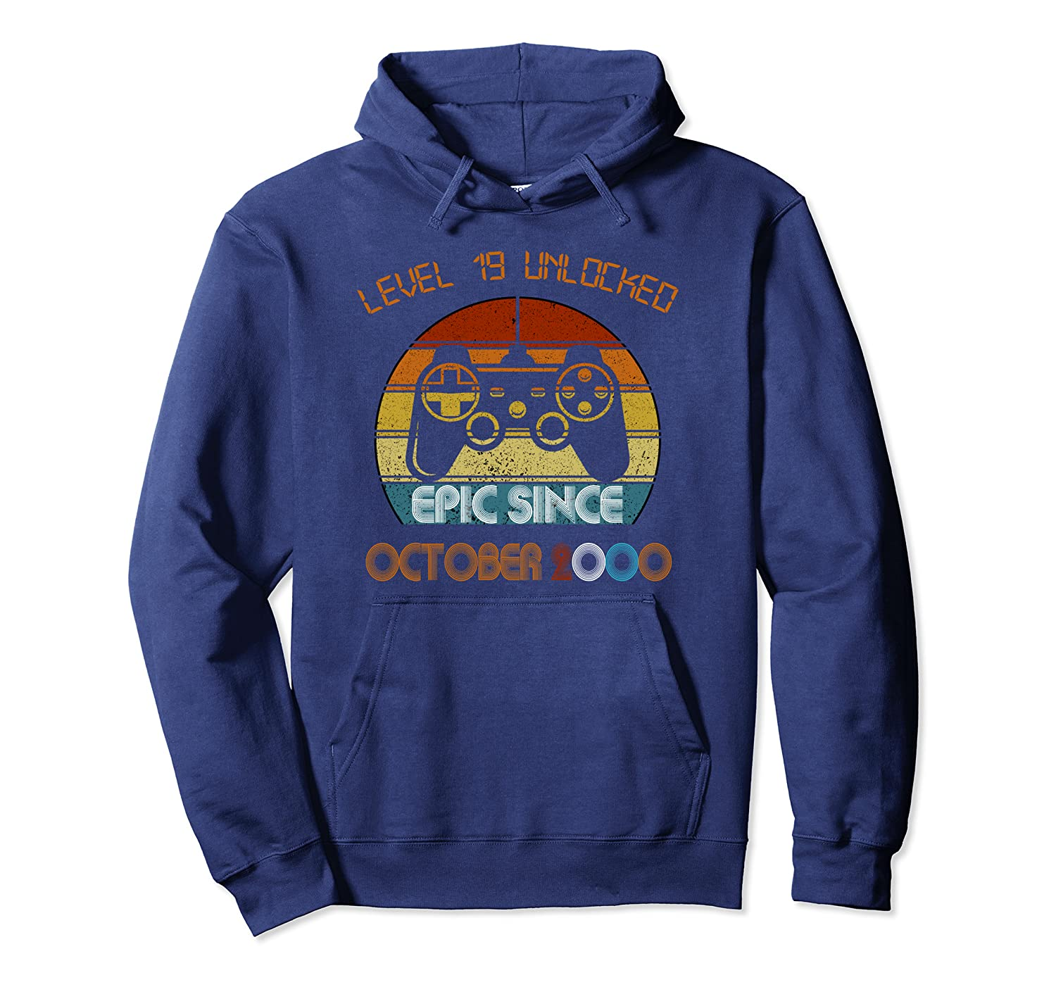Retro Classic Vintage Game October 2000 19th Birthday Pullover Hoodie