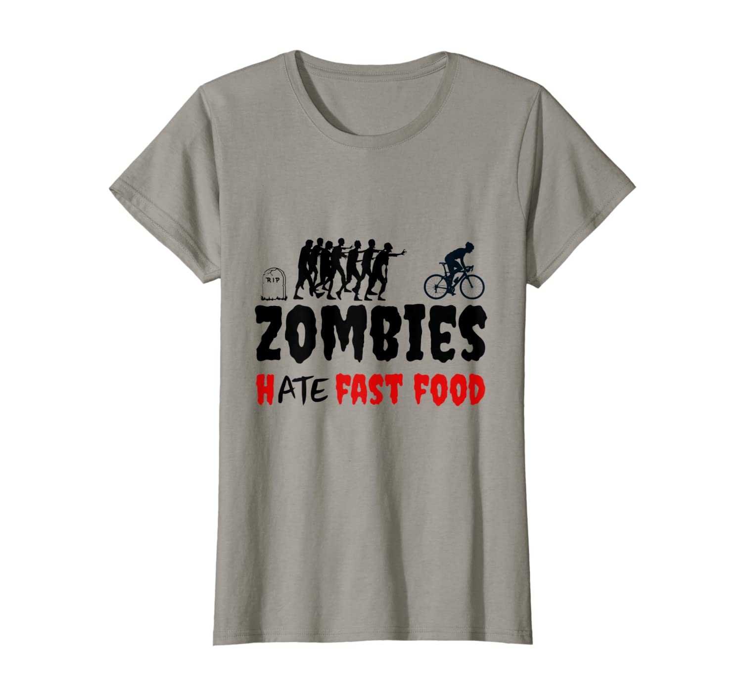 zombies hate fast food funny cycling shirt t shirt 1 - Classic Shop
